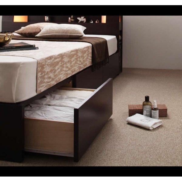 画像3: モダンライト・コンセント収納付きベッド【Viola】ヴィオラ