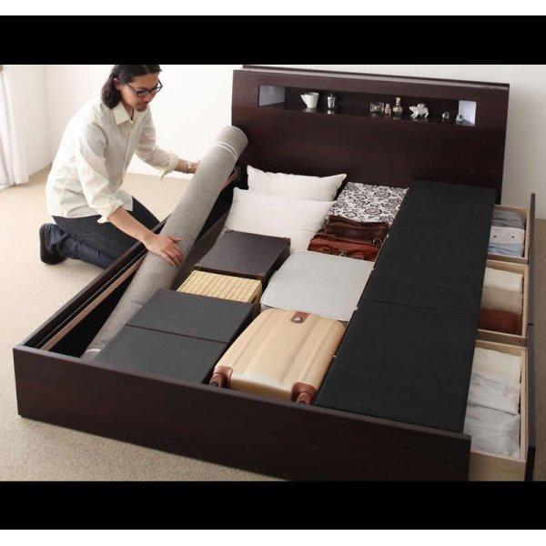 画像4: モダンライト・コンセント収納付きベッド【Viola】ヴィオラ