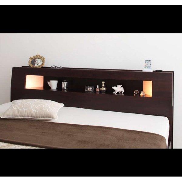 画像5: モダンライト・コンセント収納付きベッド【Viola】ヴィオラ