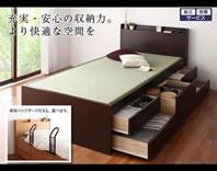シンプル棚が特徴の畳ベッド