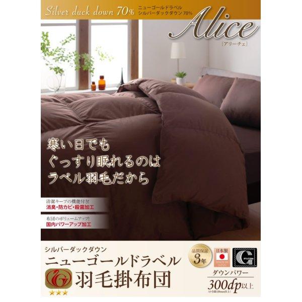 画像1: 日本製防カビ消臭 ダックダウン ニューゴールドラベル 羽毛掛布団【Alice】アリーチェ