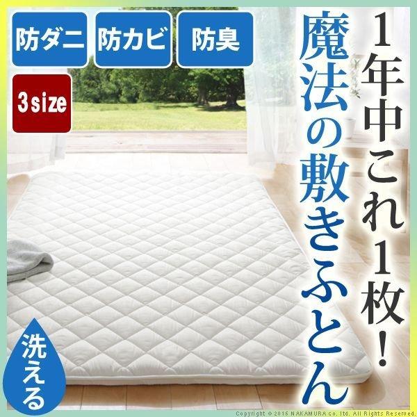 画像1: 吸湿する1枚で寝られるオールインワン敷布団【カラリフトン】