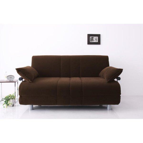 画像2: ふたりで寝られるカウチソファベッド【ROLLY】ローリー ダブルサイズ
