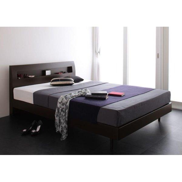 画像2: 棚・コンセント付きデザインすのこベッド【Alamode】アラモード