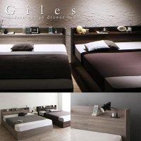 グレーがおしゃれな引き出し付き収納ベッド【Giles】 ジャイルズ