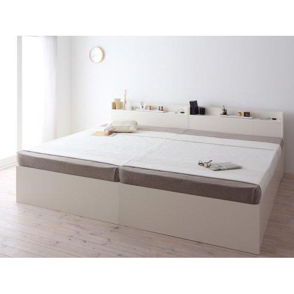 画像2: 組立設置サービス:日本製:深さが選べる!大容量ベッド下収納付きすのこベッド