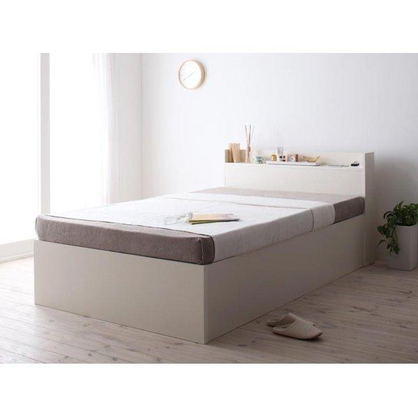 画像4: 組立設置サービス:日本製:深さが選べる!大容量ベッド下収納付きすのこベッド