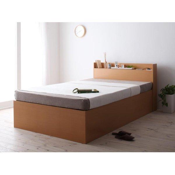 画像5: 組立設置サービス:日本製:深さが選べる!大容量ベッド下収納付きすのこベッド