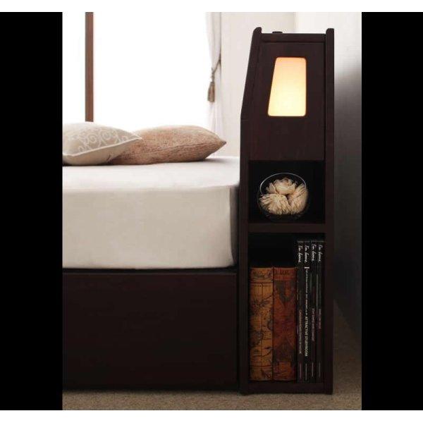 画像2: モダンライト・コンセント収納付きベッド【Viola】ヴィオラ