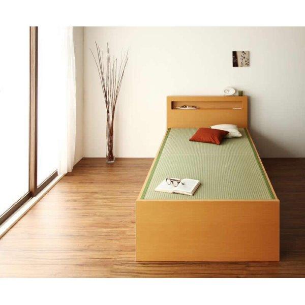 画像2: モダン&スリム棚付き畳チェストベッド