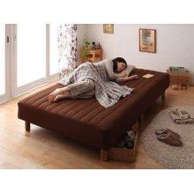 他の写真1: 色・寝心地・脚が選べる!20色カバーリングボンネルコイルマットレスベッド