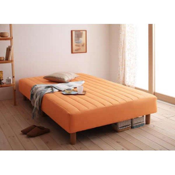 画像5: 色・寝心地・脚が選べる!20色カバーリングボンネルコイルマットレスベッド