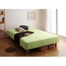 他の写真2: 色・寝心地・脚が選べる!20色カバーリングボンネルコイルマットレスベッド