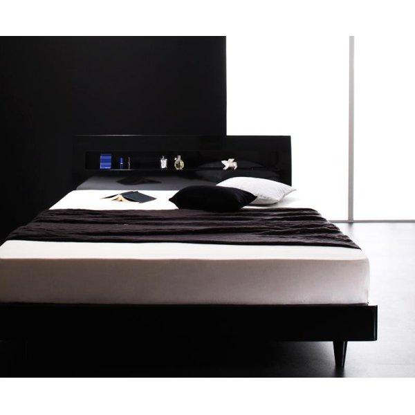 画像3: 鏡面光沢仕上げ モダンデザインすのこベッド【Degrace】ディ・グレース