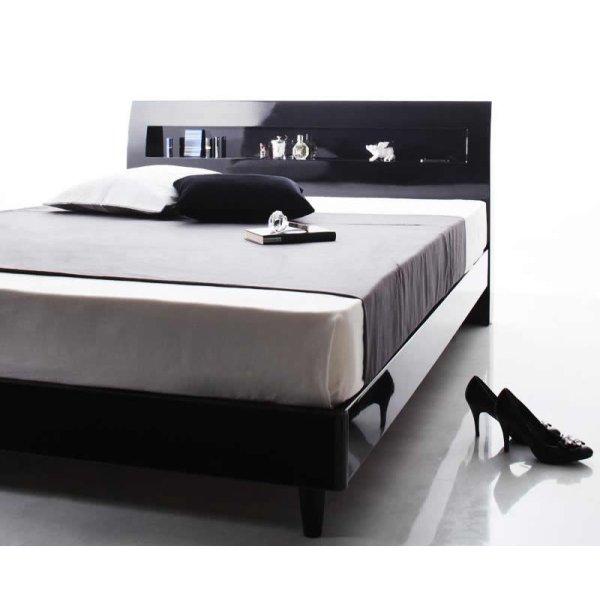 画像4: 鏡面光沢仕上げ モダンデザインすのこベッド【Degrace】ディ・グレース