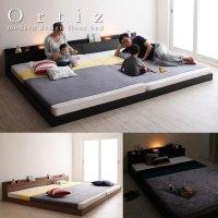 棚照明付きフロアベッド【Ortiz】オルティス 連結ベッド仕様