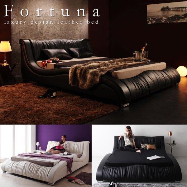画像1: 高級レザー仕様デザイナーズベッド【Fortuna】フォルトゥナ 5年保証付き