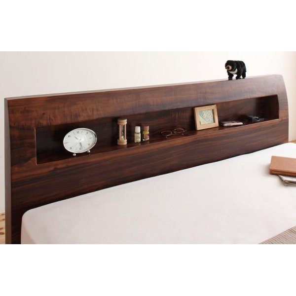 画像3: 棚・コンセント付きデザインすのこベッド【Haagen】ハーゲン