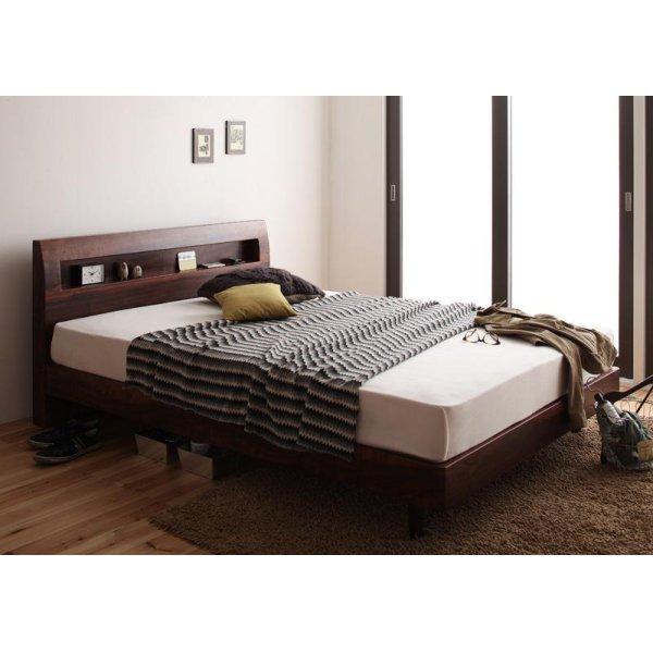 画像4: 棚・コンセント付きデザインすのこベッド【Haagen】ハーゲン