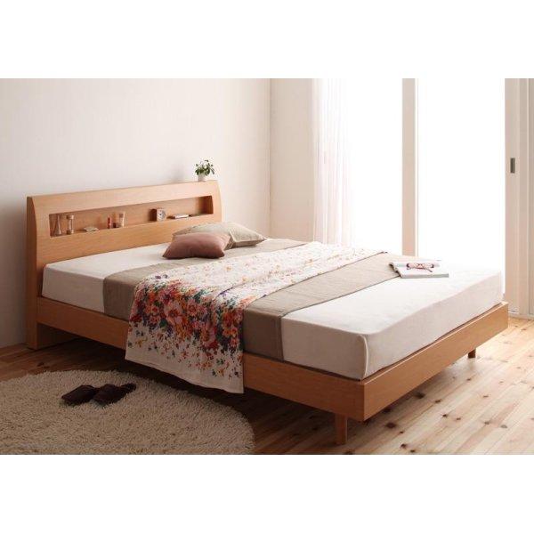 画像2: 棚・コンセント付きデザインすのこベッド【Haagen】ハーゲン