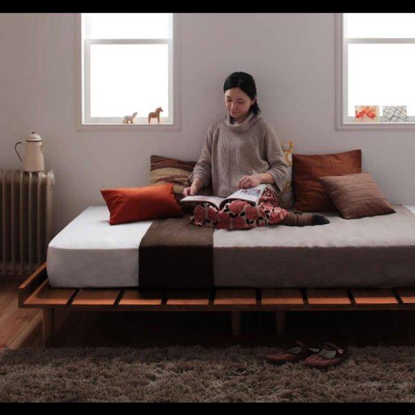 画像2: 布団も使える北欧デザインヘッドレスベッド【Kaleva】カレヴァ