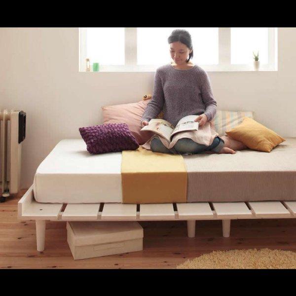画像2: 布団も使える北欧デザインヘッドレスベッド【Noora】ノーラ