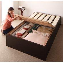 他の写真1: 組立設置サービス:日本製:大容量収納庫付きヘッドレスすのこベッド【O・S・V 】オーエスブイ