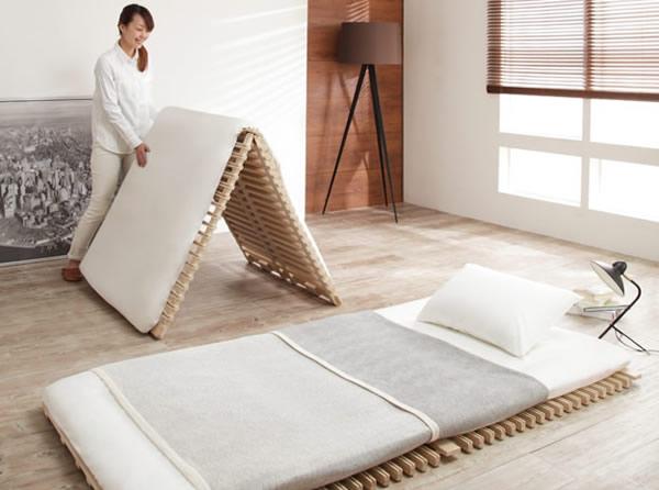 すのこベッド:布団が干せるすのこベッドイメージ