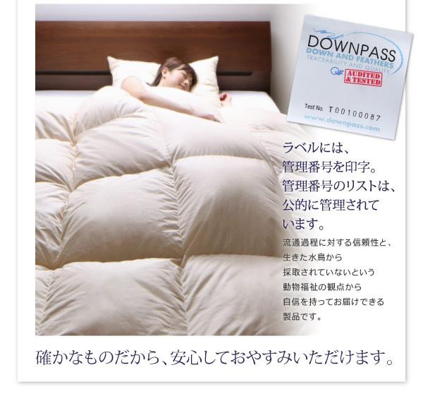 【DOWNPASS認証】フランス産ホワイトダックダウンエクセルゴールドラベル羽毛布団8点セット ベッドタイプ/和タイプの激安通販