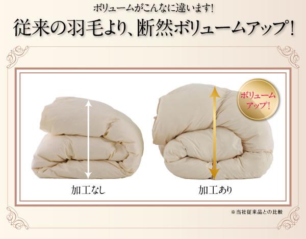 日本製防カビ消臭 プレミアムゴールドラベル 羽毛布団 8点セット【Noiva】ノイヴァの激安通販