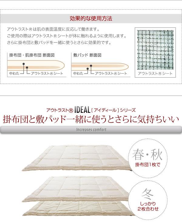 温度調整素材アウトラスト(R)シリーズ【IDEAL】アイディール イメージ8