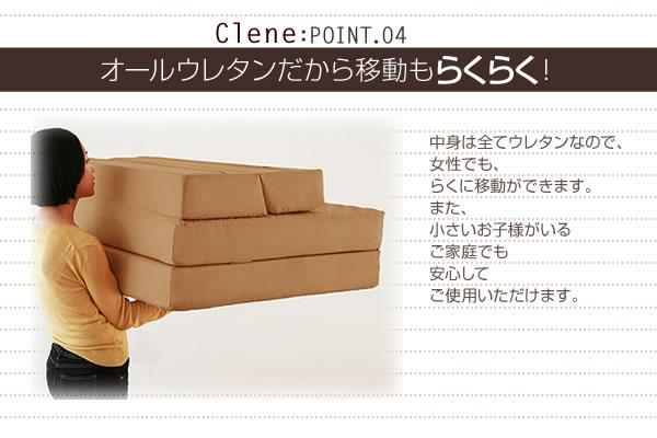 防ダニ・抗菌防臭ソファーマットレス【Clene】クリネ 説明5