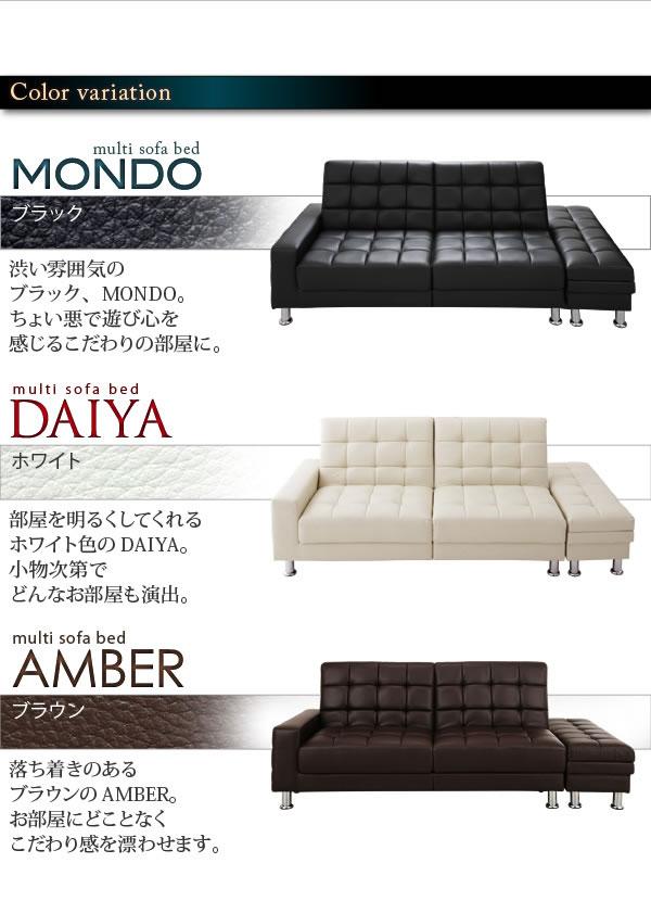 収納付きマルチソファベッド【MONDO】モンド 説明7