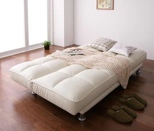 3スタイルレザーソファーベッド ベッドスタイル