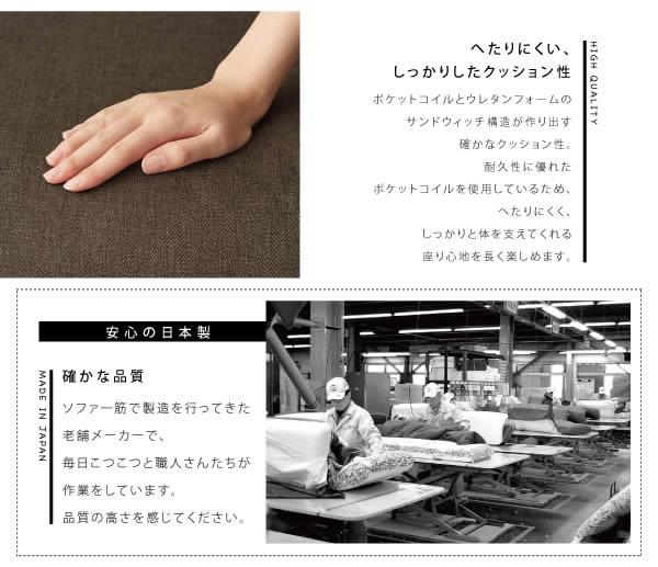 カウチソファ【Esta】エスタ ファブリックタイプ 説明7