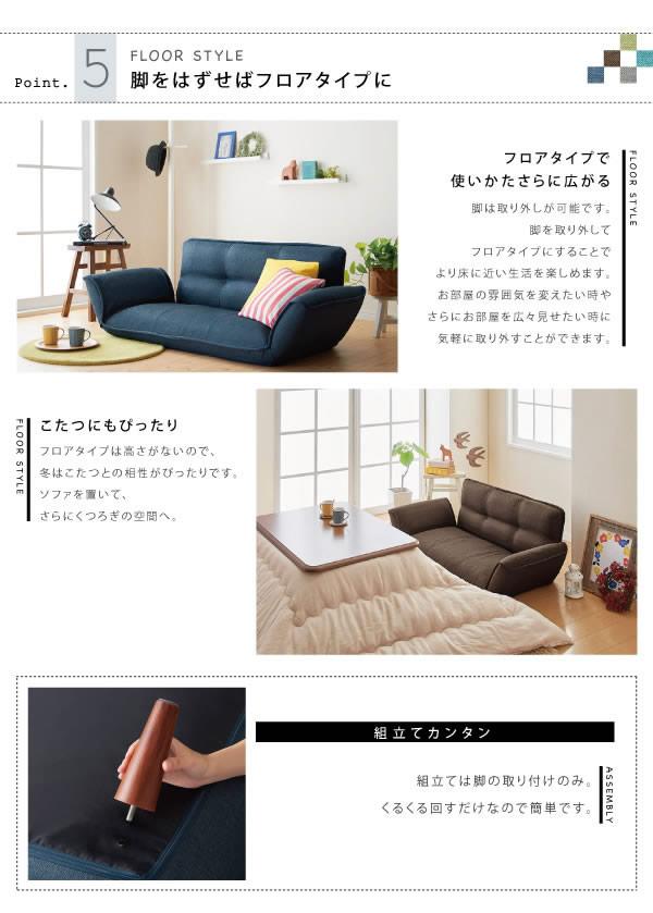 カウチソファ【Esta】エスタ ファブリックタイプ 説明14