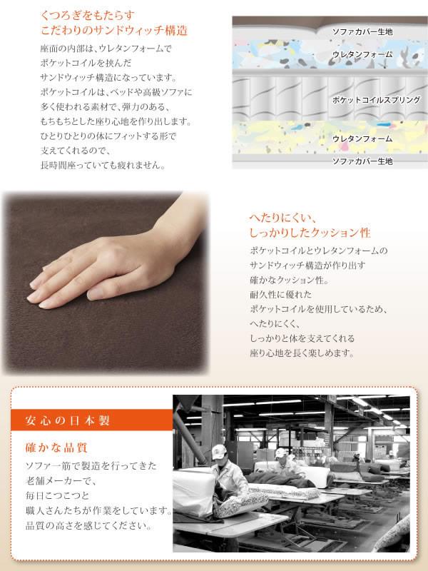 カウチソファー【Esta】エスタ マイクロファイバー 激安通販