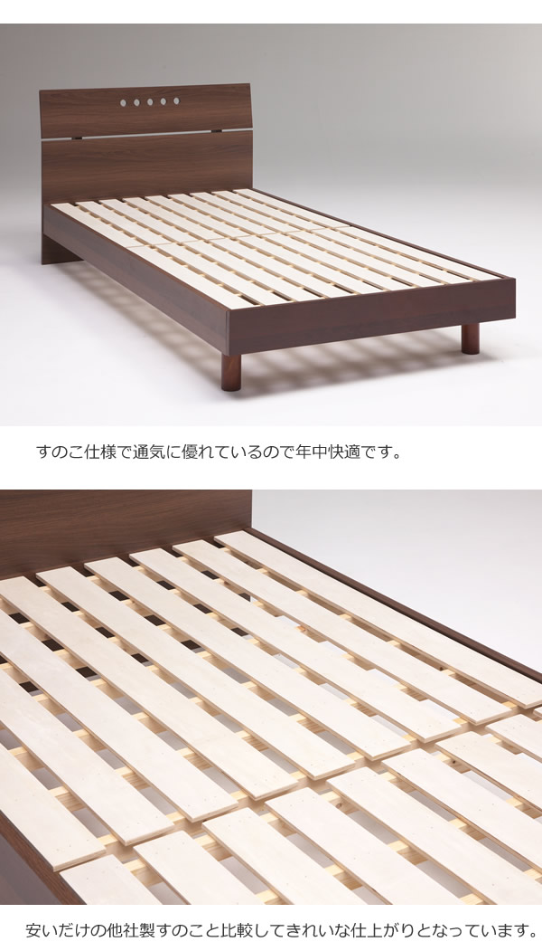 背もたれにできるシンプルデザインすのこベッド【Pamela】 安くてお得なベッドシリーズの激安通販