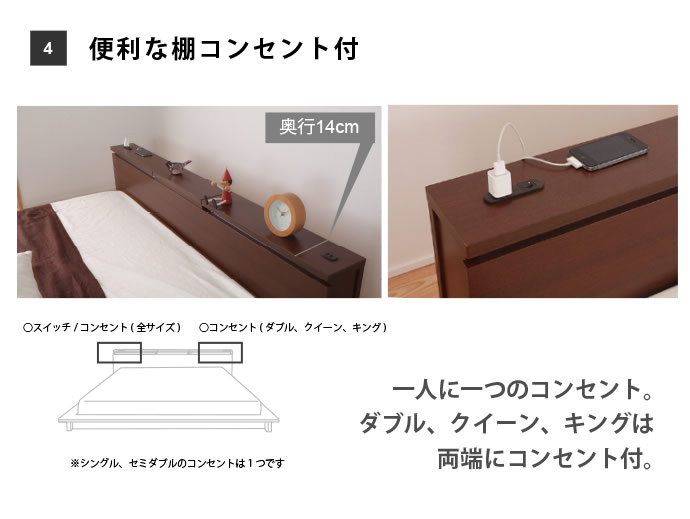 収納庫付きステージデザインフロアベッド【Moon】ムーンを通販で激安販売