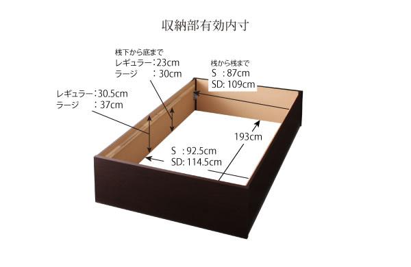 組立設置サービス:日本製:大容量収納庫付きヘッドレスすのこベッド【O・S・V 】オーエスブイの激安通販