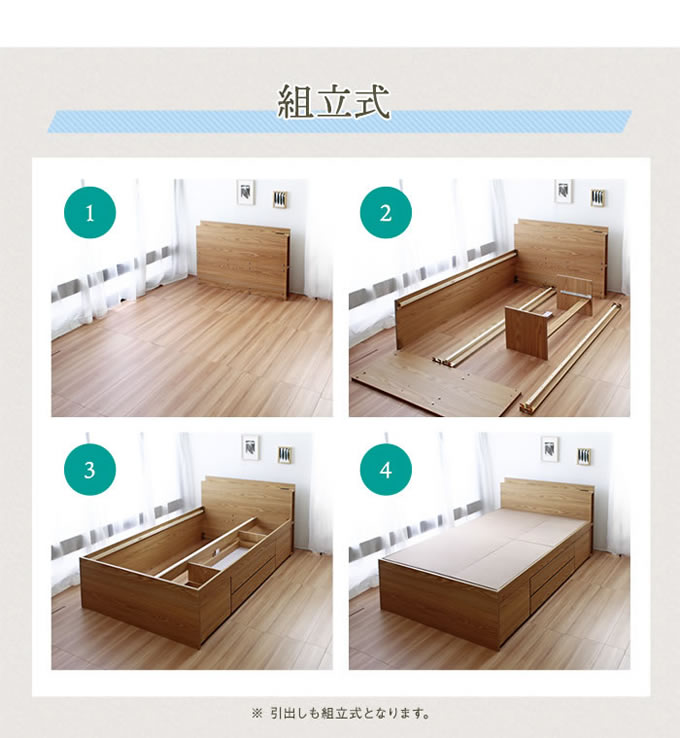 シンプルデザインチェストベッド【Bella】ベラ お買い得価格の激安通販