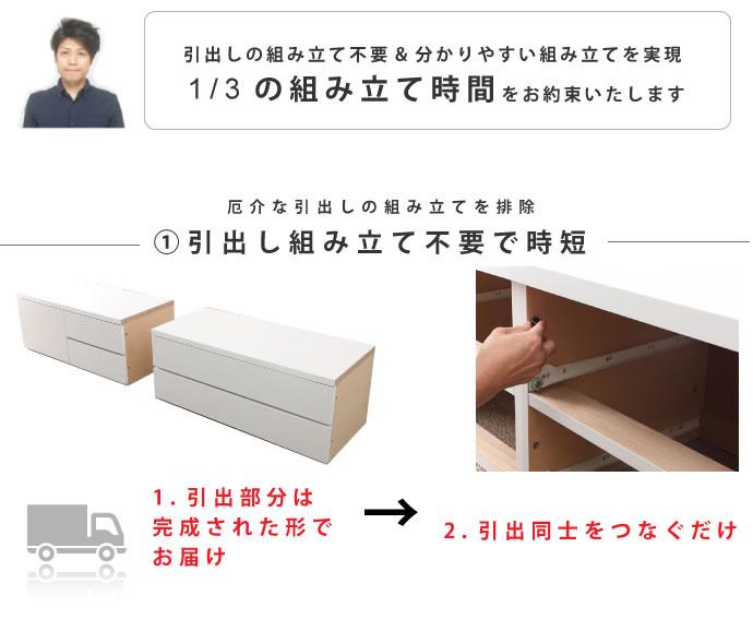 ヘッドレス/棚あり対応。日本製BOX型チェストベッド【crocus】クロッカスの激安通販