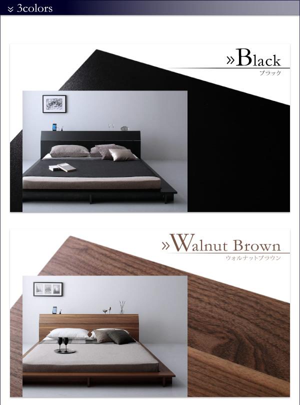 おしゃれな傾斜デザインに棚&4口コンセント付きフロアベッド【Aster】アステルの激安通販