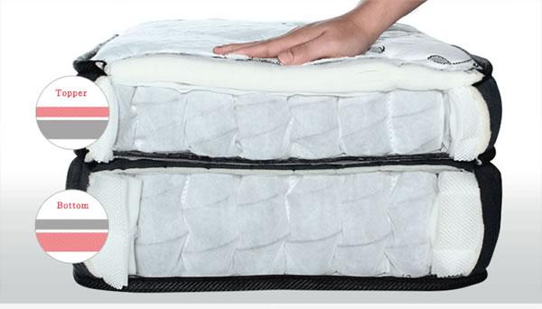二層のマットレスが寝心地をアップ!ダブルクッション仕様ポケットコイルマットレス【Ensemble】の激安通販