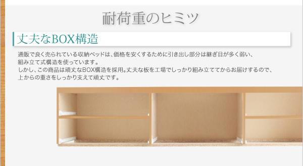 頑丈ベッド【Tough】タフ 日本製低ホルムアルデヒドBOX型チェストベッドの激安通販