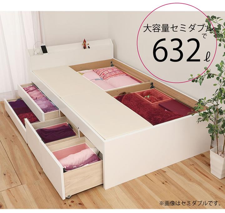 大容量収納格安チェストベッド【Paula】 ポーラ 日本製・頑丈設計・低ホルムアルデヒドの激安通販