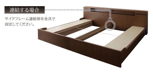 埃対策BOX収納付きアシンメトリーデザイン連結ベッド【Vivre】ヴィーヴルの激安通販