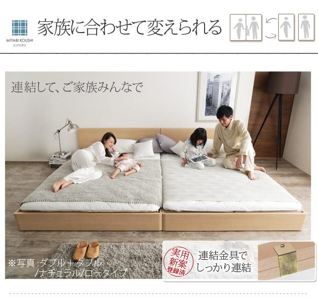 通気性2倍の「みやび格子」すのこベッド【紫苑】 2段階高さ調節付きの激安通販