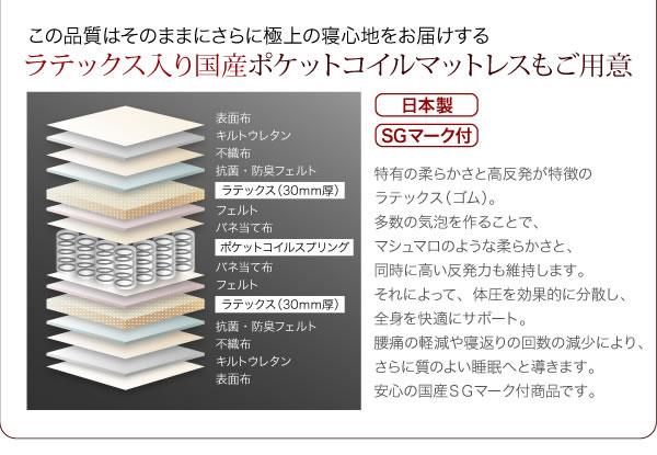 コンセント付き収納ベッド【Mona】モナ 激安通販