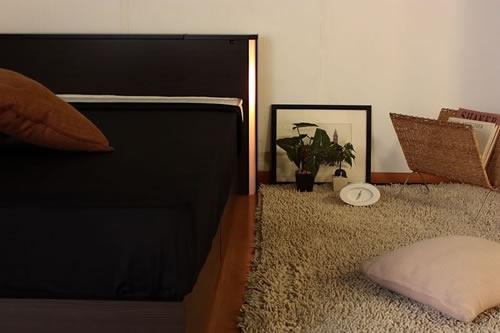 棚コンセント照明引出収納付ベッドA271 おしゃれな空間を作れます